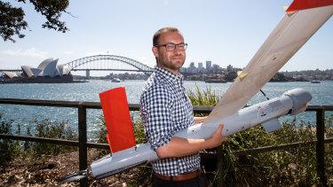 Ninox Robotics founder Marcus Ehrlich with one of his drones