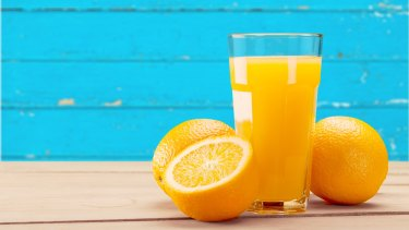 Orange juice with a high sugar content equivalent to other soft drinks will have a similarly low health star rating.