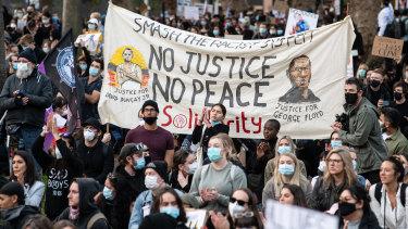 The Black Lives Matter protest in Sydney last weekend.