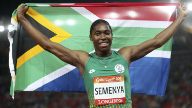 Caster Semenya wins the 1500 metres on Tuesday night.
