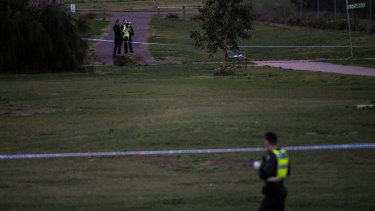 The Gladstone Park crime scene.
