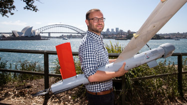 Ninox Robotics founder Marcus Ehrlich with one of his drones.