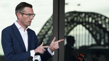 NSW Treasurer Dominic Perrottet in Sydney on Saturday.