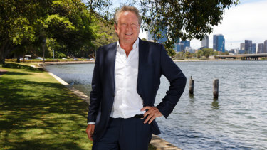 Andrew Forrest arrived back in Perth early in the new year after his global trek.
