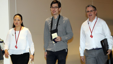 The 29-year-old Australian student arrived in Tokyo on Thursday evening local time on a flight from Beijing.