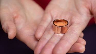 The ring Emily* designed to commemorate her escape from domestic violence.