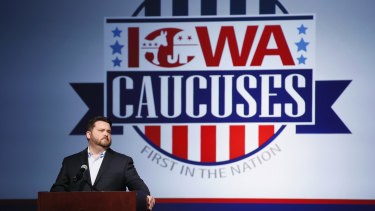 Iowa Democratic Party chairman Troy Price speaks about the delay in Iowa caucus results.
