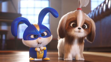 Voiced by Kevin Hart and Tiffany Haddish: Snowball and Daisy in The Secret Life of Pets 2.