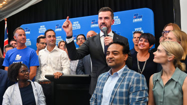 WA Opposition Leader Zak Kirkup at his campaign launch for the 2021 state election.