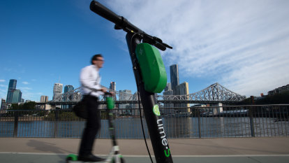Nearly half of Brisbane e-scooter rides were illegal, study shows