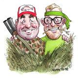 Roy Butler and Justin Field. Illustration: John Shakespeare