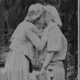 "Princess Diana gives Baroness Tryon, aka ""Kanga"", a farewell kiss after the pair shared lunch."