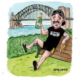 Paul Fenech's pulse is on the west, but his pillow is in the north. Illustration: John Shakespeare