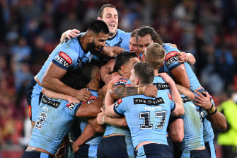 The aggregate scoreline for Origin 2021 reads NSW 76 Queensland 6 after two matches.