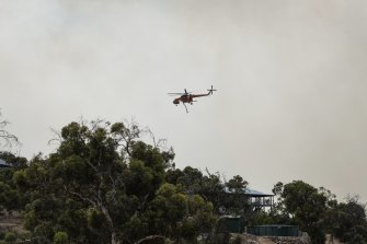 Air crews have been called in to help firefighters on the ground.