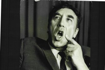 Frankie Howerd photographed during his three-week Sydney season at Chequers in 1969.