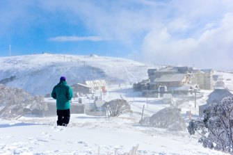 A wintry blast brought snow to the Alps including Mt Hotham earlier in May.