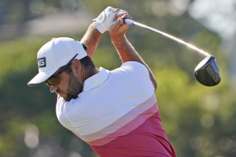 Canada's Corey Conners leads the US PGA Championship after the first round.