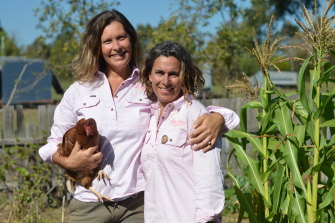 Gab Banay and Jacqui Lanarus. For Jacqui the farm has been a healing place.