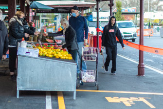 The Queen Victoria Market, pictured on August 12, was quiet as state's lockdown was extended.