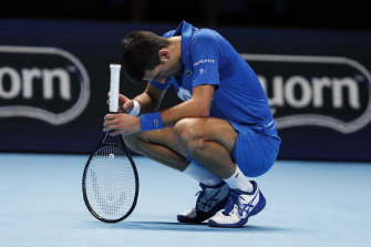 Novak Djokovic was soundly beaten by Daniil Medvedev at the ATP Finals.