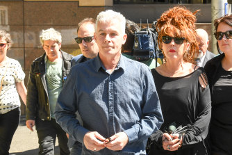 Matthew Honey leaving Melbourne Magistrates Court last year.