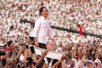 Joko Widodo's rode a wave of hope to a second presidential term.