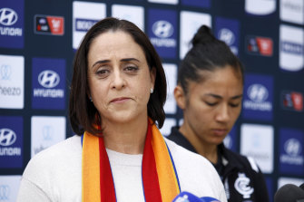 Nicole Livingstone, AFL head of women's football, is going to the Olympics in Tokyo to commentate on the swimming.