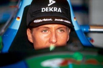 Michael Schumacher at the 1994 Japanese Grand Prix in Suzuka.