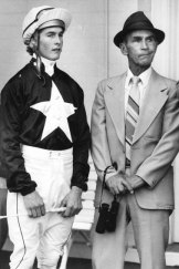 Moulding the greats: Theo Green with Darren Beadman at Randwick in 1985.