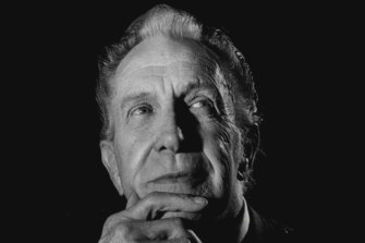 """""""You're crazy. You've lost your grip."""" Vincent Price pictured at the Sebel Town House, Sydney on June 26, 1980."""