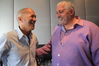Charlie Teo and Mick Gatto at a charity function in Sydney in 2012.