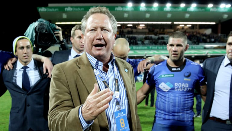 Andrew Forrest is hoping to start a team in Sydney's west when the World Series Rugby competition launches next year.