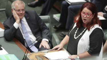 Prime Minister Scott Morrison and Environment Minister Melissa Price: carbon fund may have an extended life.