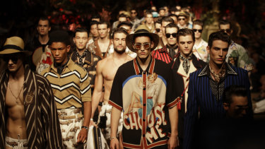 Back from the brink? The Dolce & Gabbana men's show in Milan this month.