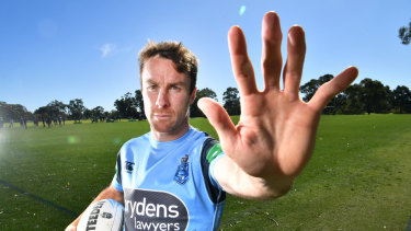 Fickle finger of fate: James Maloney has made a remarkable return to the NSW team.