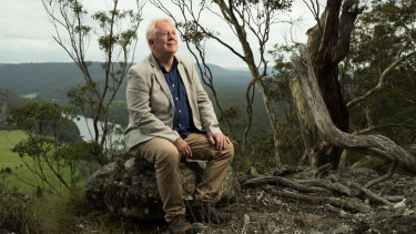 Barry Pearce, emeritus curator of Australian art at the Art Gallery of NSW, on the escarpment on which Arthur Boyd often painted.