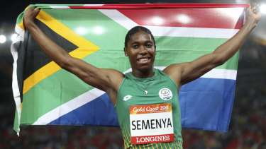 Caster Semenya wins the 1500 metres on Tuesday night.