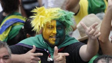 Supporters of Brazil's President Elect Jair Bolsonaro wait prior Bolsonaro's inauguration.