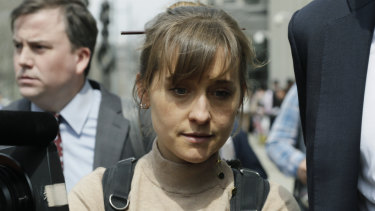 Actress Allison Mack, one of the senior members of NXIVM who face jail time for their involvement in the cult.