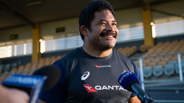 Veteran: Tatafu Polota-Nau is ready and raring to battle for his Wallabies place.