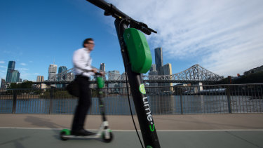 A QUT study of electric scooter riding in Brisbane has found nearly half were being ridden illegally.