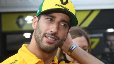 Progress: Renault's Daniel Ricciardo is making positive steps with his new team.