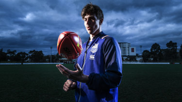 North Melbourne midfielder Trent Dumont has had a strong and steady 2018.