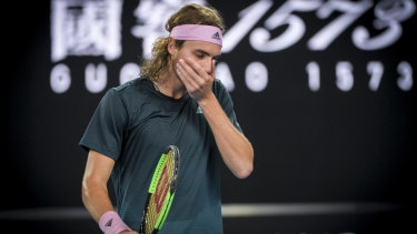Well beaten: Stefanos Tsitsipas.