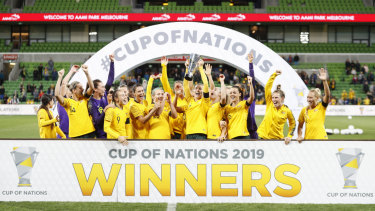 The Matildas, Australia's women's soccer outfit.