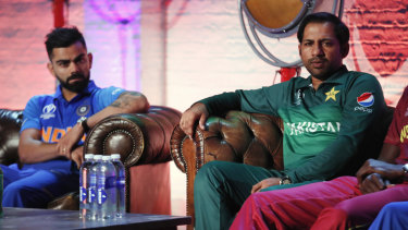 Pakistan's Sarfaraz Ahmed and India's Virat Kohli.