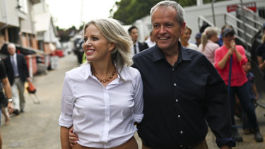 Chloe Shorten, campaigning with husband Bill on the weekend, is acknowledged by Labor insiders as a huge advantage for him.