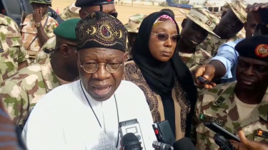 Lai Mohammed, Nigeria's information minister.