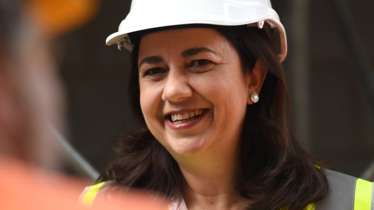 """Queensland Premier Annastacia Palaszczuk: """"Of course we support resource industries in this state""""."""